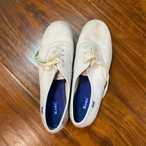 White leather Keds sneakers